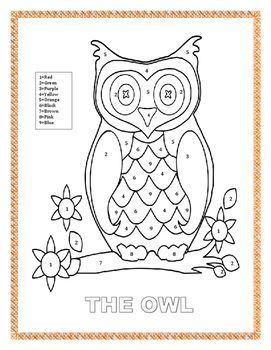 Fun Interactive Color By Number Farm Themed Coloring Page The Owl Is A Fun Activity Form K 2 Gre Fun Activities Cross Curricular Activities Learning Colors