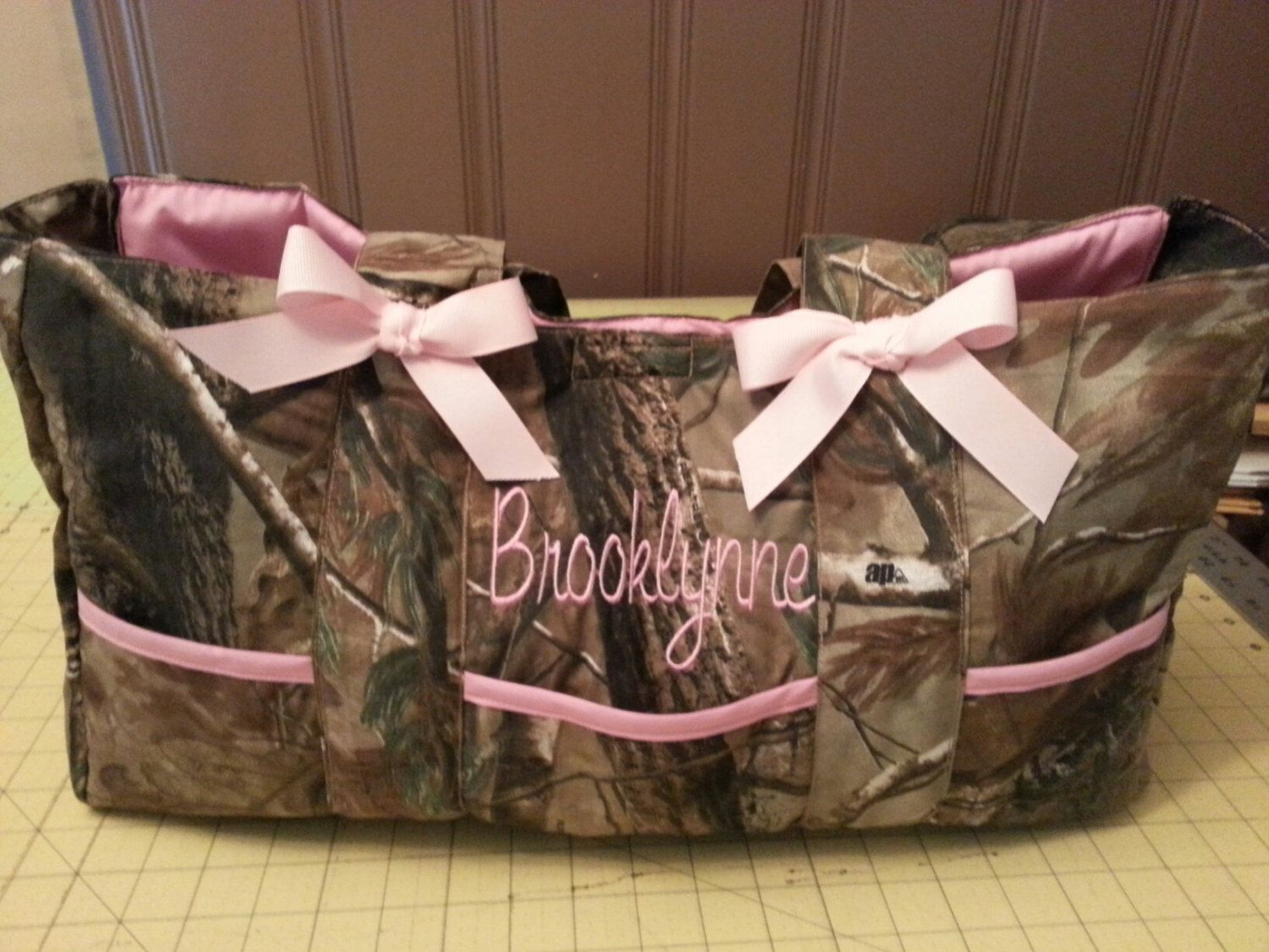 f73db5fc3361 Camo DIaper bag   Sale    with Name embroidered-custom and personalized-  washable by CozyCreationsHeather on Etsy