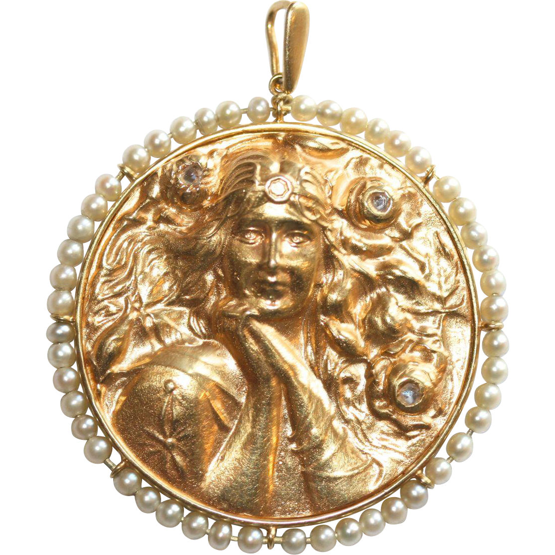 image pendant large gold medallion product tribal twinface jewellery of