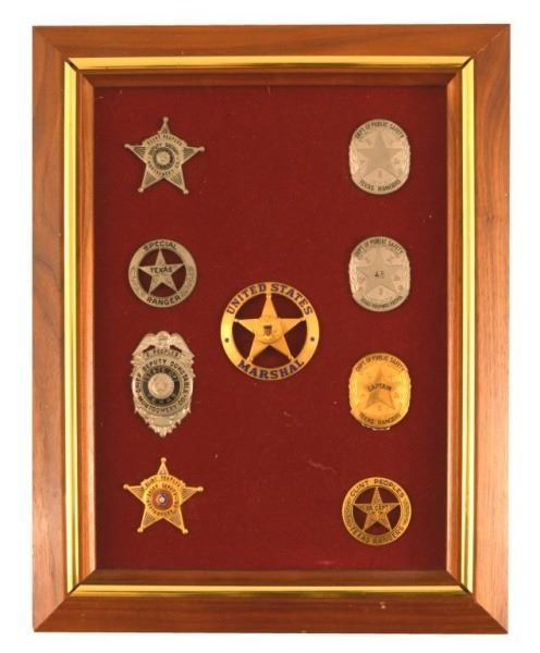 Texas Ranger Clint Peoples Collection Badges Photo