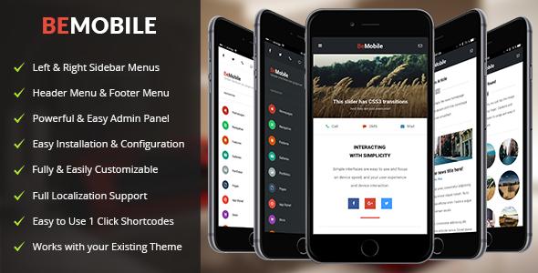 Be Mobile | Mobile and Tablet Responsive WordPress Theme ...