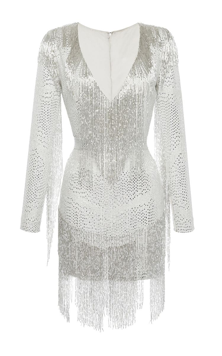 Click Product To Zoom Beaded Dress Short Long Sleeve Cocktail Dress White Short Dress [ 1200 x 750 Pixel ]