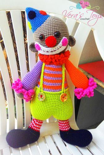 Chatterbox The Clown Crocheted Clowns Pinterest Amigurumi