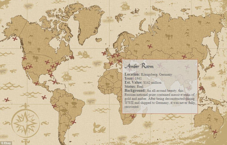 Interactive map plots the location of buried treasure around the world gumiabroncs Images