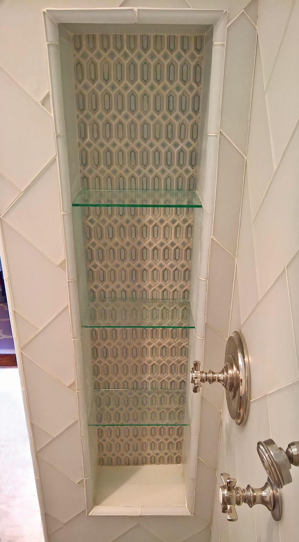 Glass Shelf Shower Niche Installation In Marina District San