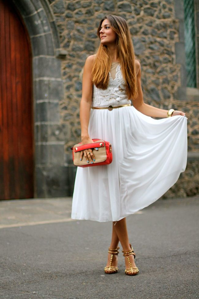 Marilyn's Closet - FASHION BLOG: Midi White Dress