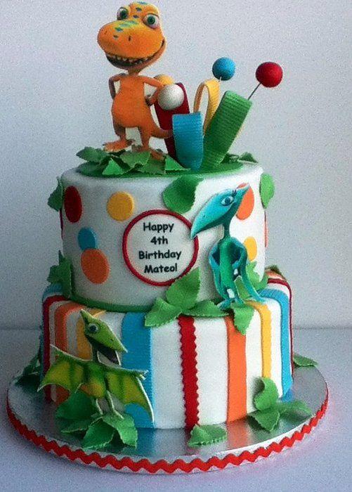 Incredible Dinosaur Train Cake With Images Dinosaur Train Cakes Personalised Birthday Cards Veneteletsinfo