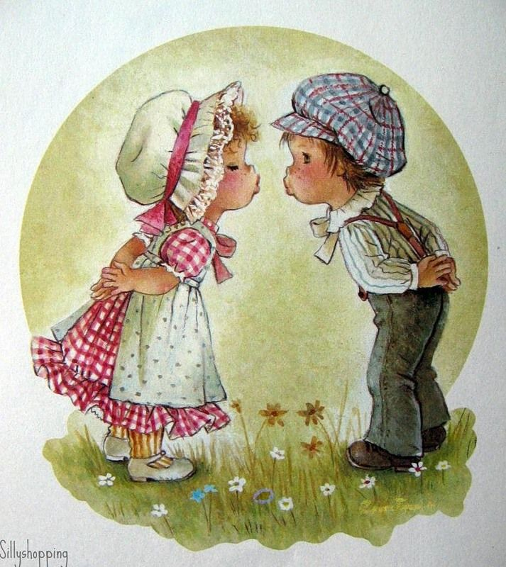 Девочка с мальчиком открытки, аниме