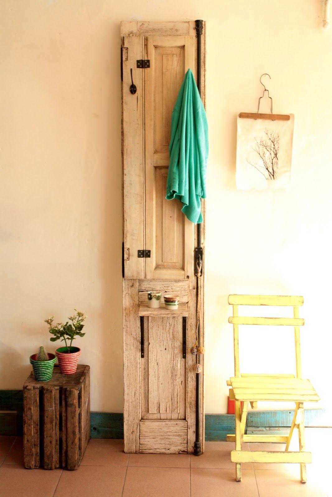 Puertas recicladas ideas para ordenar y decorar tu for Ideas para decorar marcos de puertas