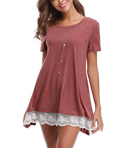 Femme Tee Shirt Abollria Blouse Tunique Robe Chemise Manche Ample hQdtBsrCx