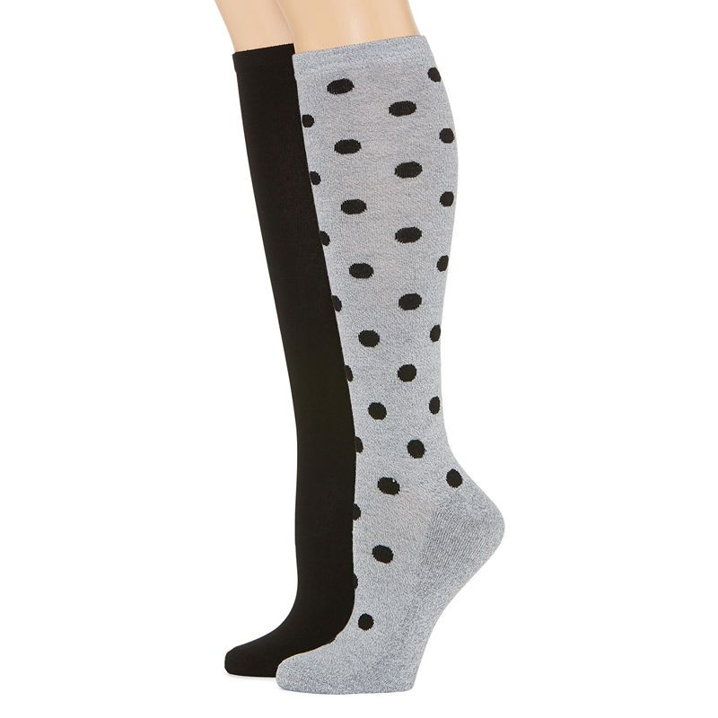 c19b591c7fb Mixit 2 Pk Rayon From Bamboo Pillow Sole 2 Pair Knee High Socks - Womens