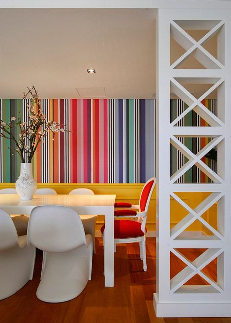 Decorate Your Home With Delightful Striped Walls