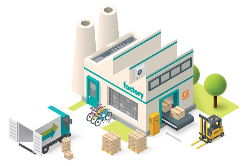 Factory Relocation A Guide For Success Building Icon Isometric Illustration Isometric