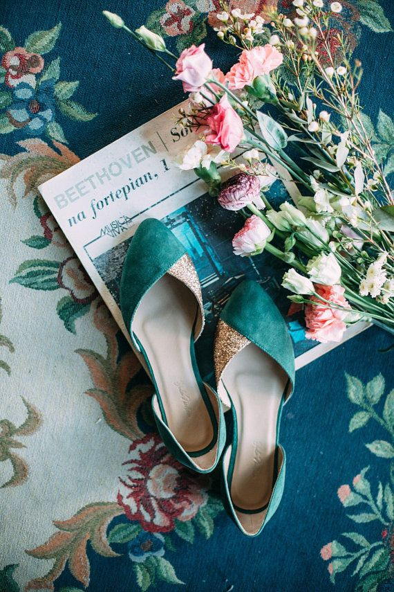 Wedding Shoes Emerald Wedding Shoes Green Wedding Shoes Etsy Wedding Shoes Bridal Ballet Flats Bridal Flats