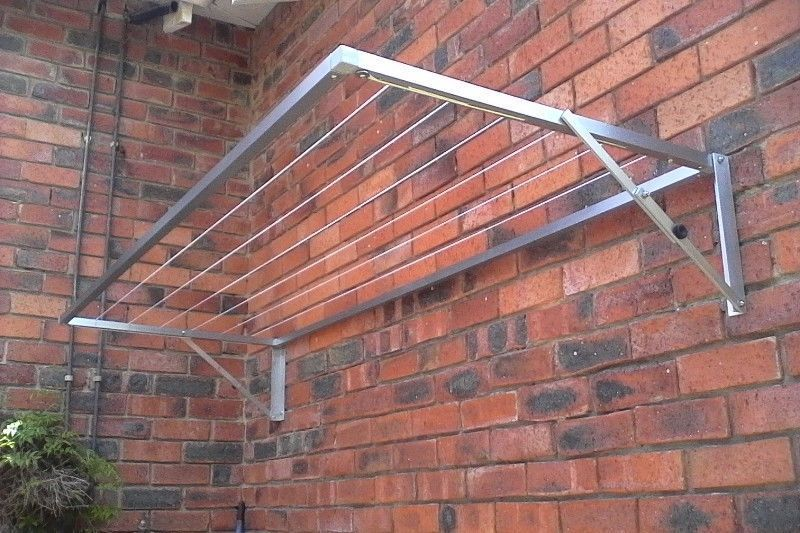 Aluminium Wall Mounted Fold Down Washing Lines For Both Indoor