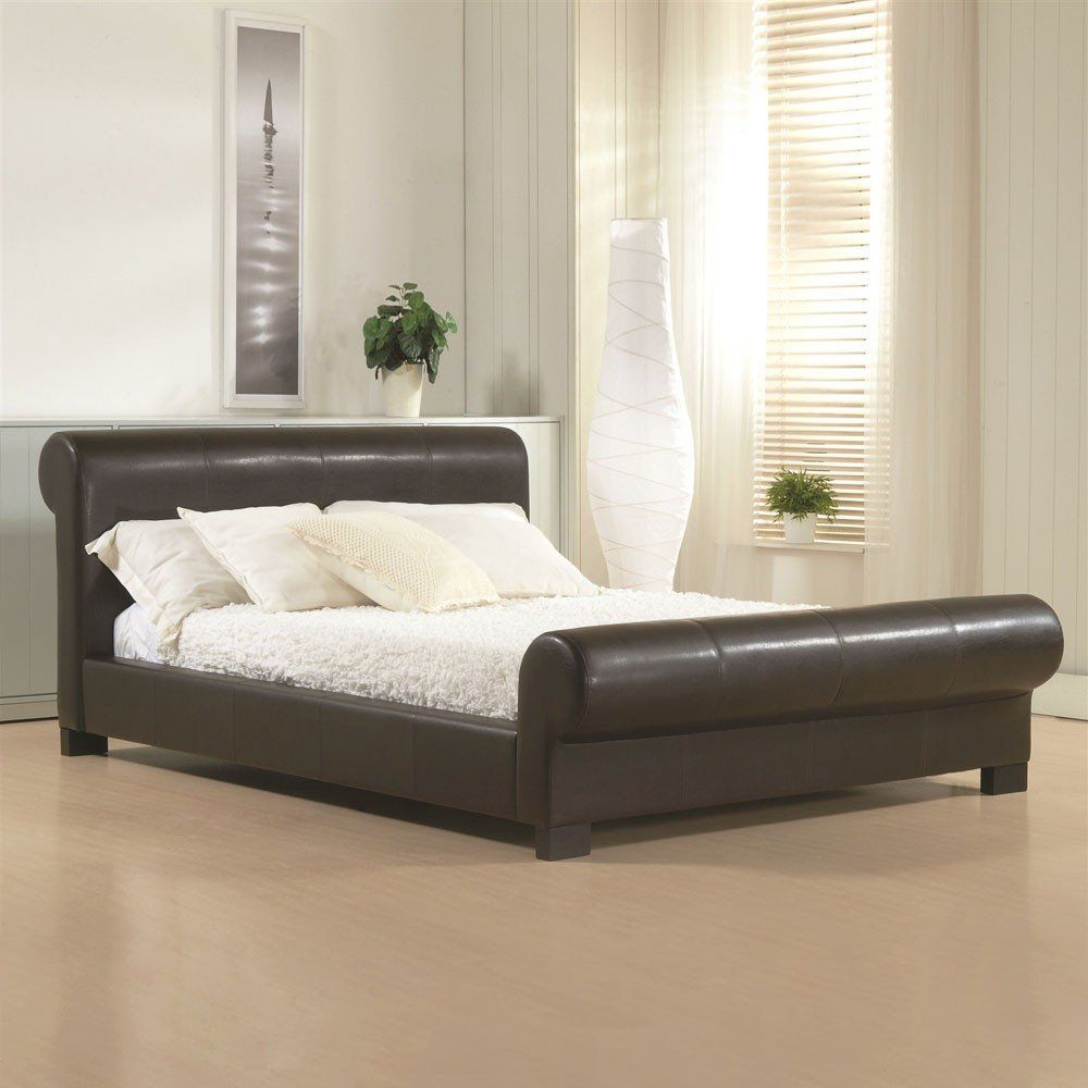 4ft Double Bed Size Valencia Faux Leather Bed Size Colour Options By Time Living