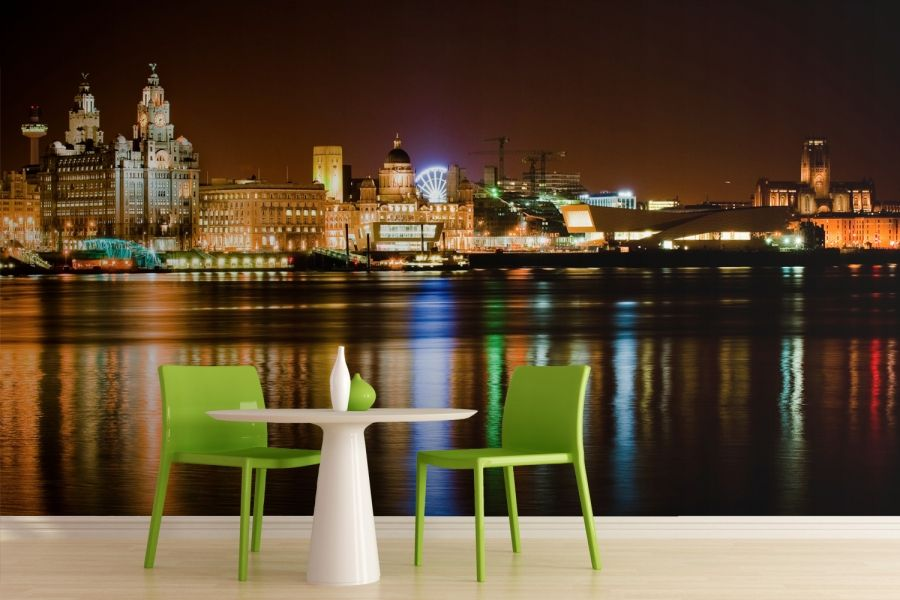 Creative City Liverpool Skyline Wallpaper Mural Room