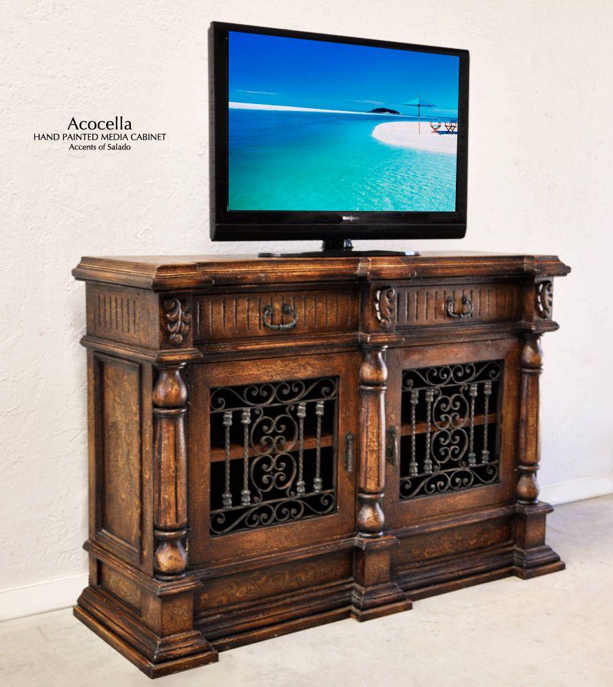 Spanish Hacienda Furniture.. Acocella Media Cabinet. Accents of Salado