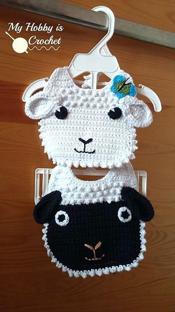 Lamb Baby Bib Free Crochet Pattern Crotchet Pinterest Free