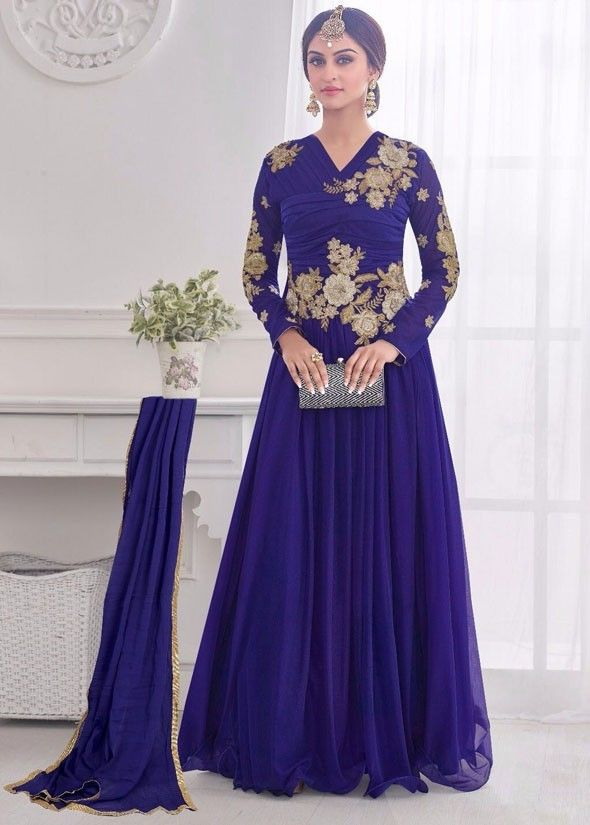 Krystle D\'Souza Peacock Blue Gown | MY HEROIN CRISTY | Pinterest