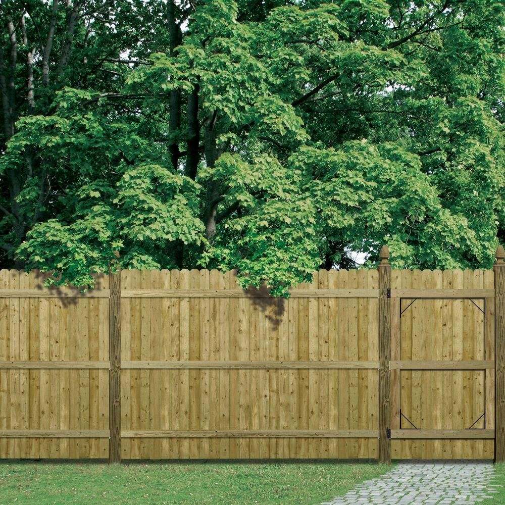 Barrette 6 ft H x 8 ft W Pressure Treated 4 in Dog Ear Fence Panel The Home Depot