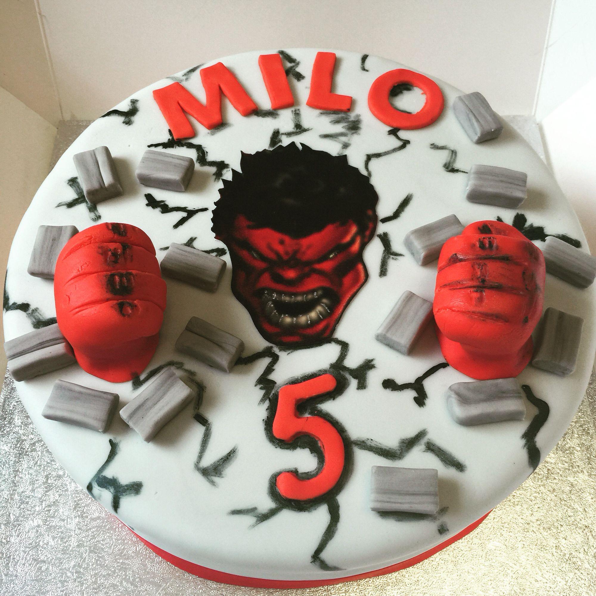 Red hulk cake Cakes Pinterest Hulk cakes Cake and Food