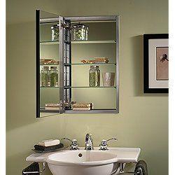 NuTone S468244SS Studio IV Series Recessed Beveled Mirror Medicine ...