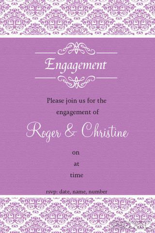 Engagement Invitation Template Engagement Invitation Template Word
