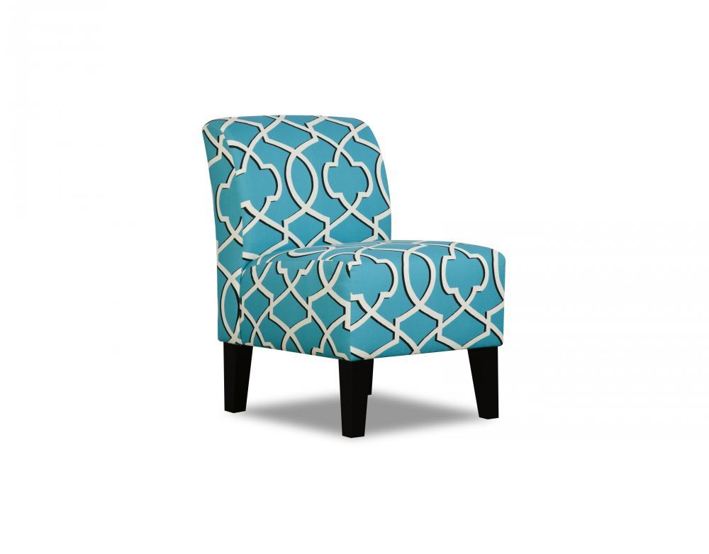 Made To Order Simmons Upholstery Apache Blue Armless Chair