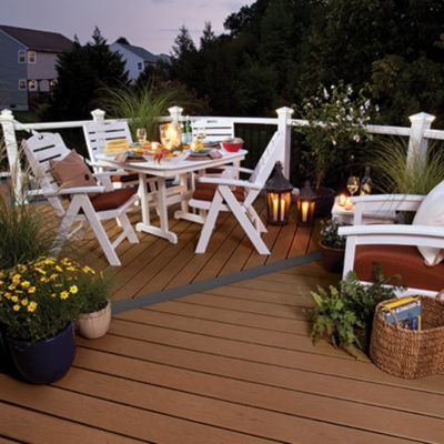 tablescape from the trex coastal collection featuring trex patio