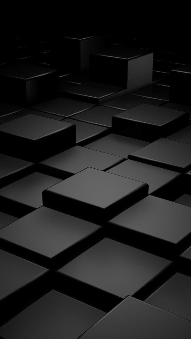 Black 3d Blocks Iphone 5 Wallpaper Motorola Wallpapers Cool Iphone Wallpapers Hd Samsung Galaxy Wallpaper
