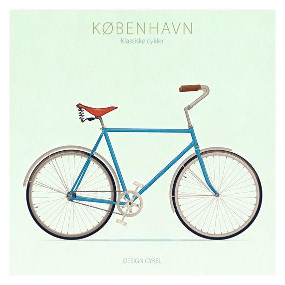 Bicycles Of Copenhagen On Behance With Images Bicycle Bike Poster Copenhagen