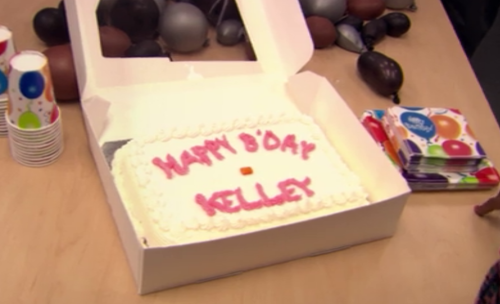 Image result for the office kelly birthday cake