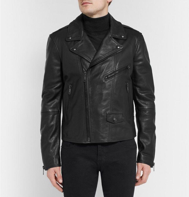Mens Leather Biker Jacket images