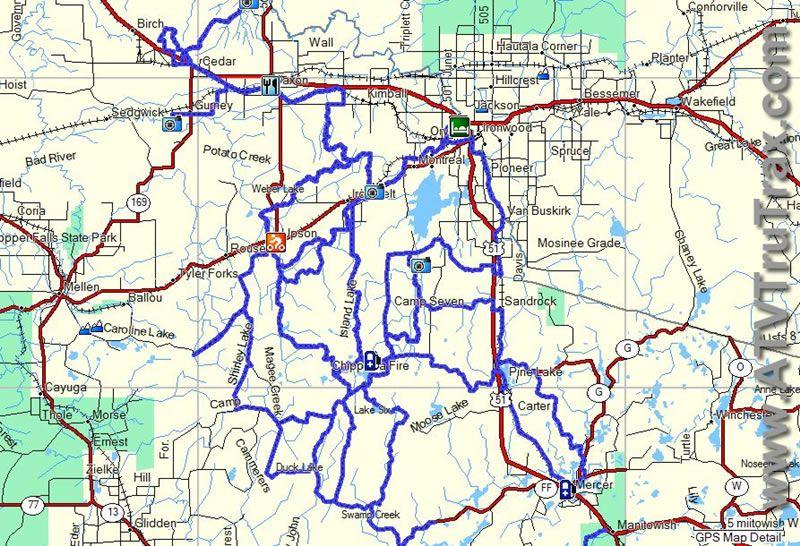 iron county wisconsin atv map | Free Wisconsin ATV Trail ...
