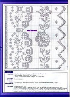 Anaide Crochê: Lindos gráfico de bico de croche, espero que gostem. Deixem seu comentário.