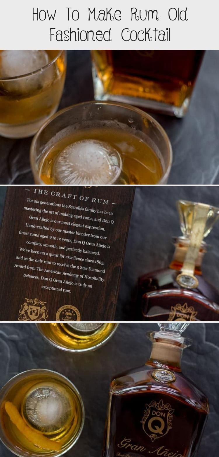 How To Make Rum Old Fashioned Cocktail, 2020
