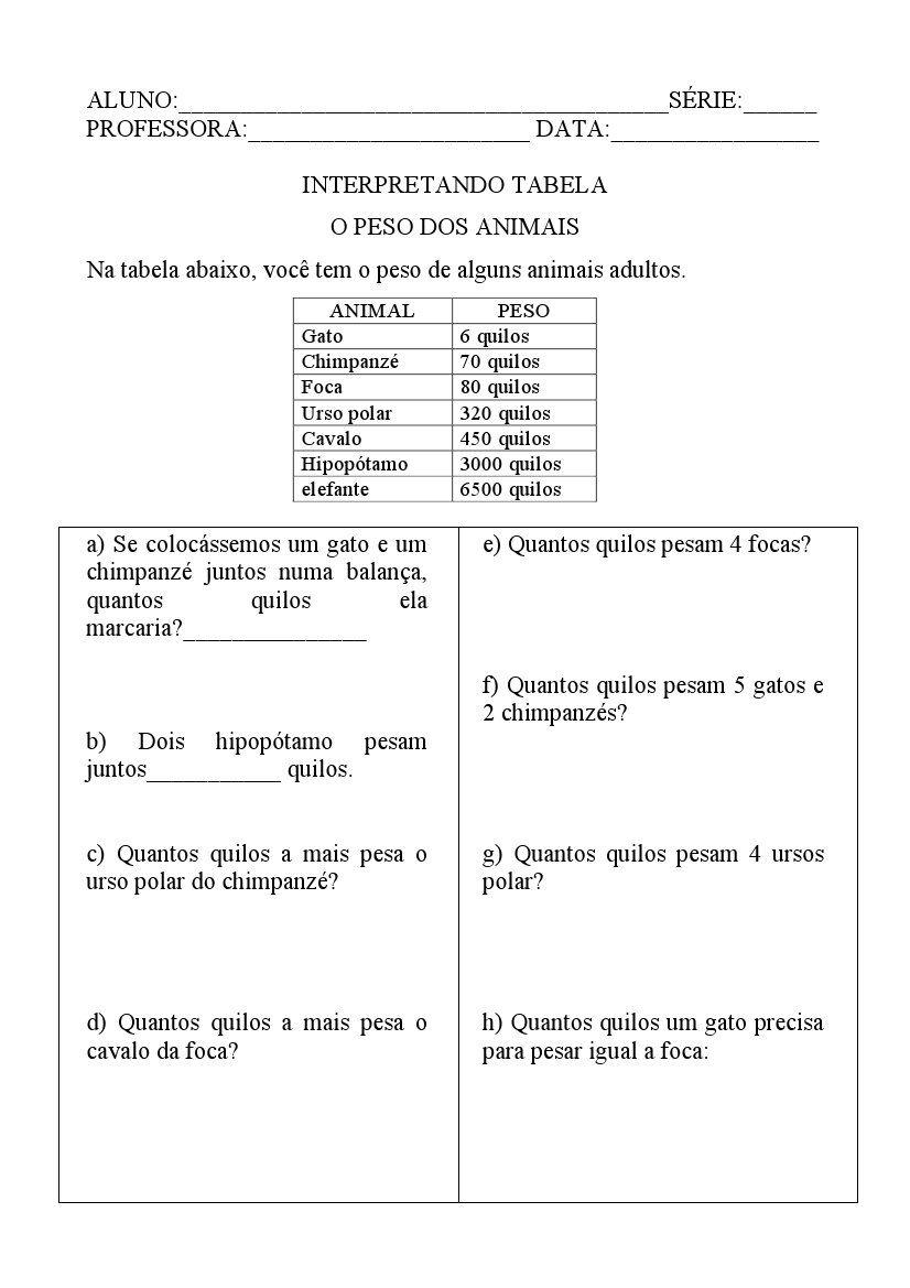 Pin De Leneleal Em 3ano Fundamental Atividades De Matematica