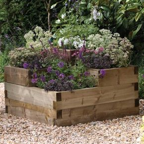 Hochbeete Aus Holz Garten Bauen Ideen Blumen Garten Pinterest