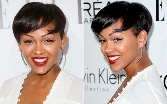 Stylish Black Celebrity Short Hairstyles Shorthairstyles Pixiehair Celebrityhairstyles