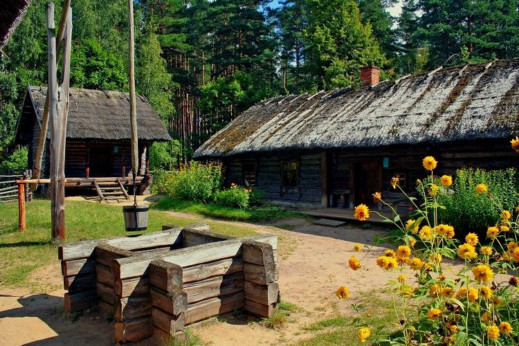 Ethnographic Open-Air Museum - Historic dwellings and well