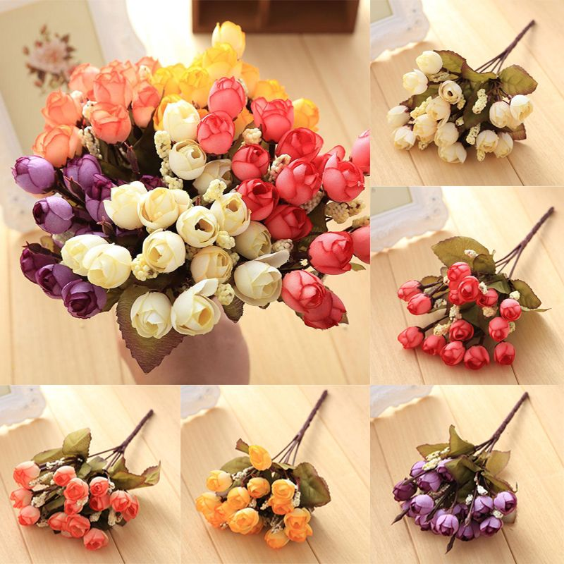 Click to buy 18 heads artificial camellia silk flowers home silk 18 heads artificial camellia silk flowers home silk flower leaf artificial wedding centerpiece decoration mightylinksfo