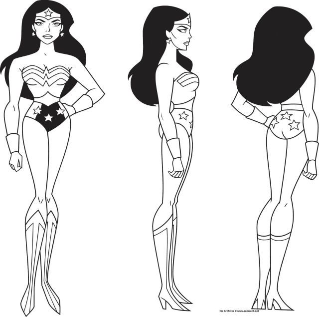 spiedyfandeviantart/art/Wonder-Woman-Model-Sheet - character model template