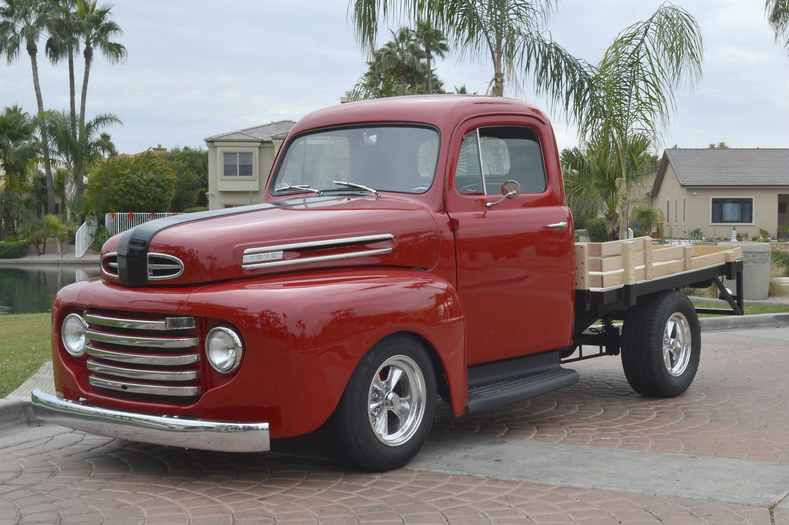 1948 ford f1 stake bed pickup truck custom