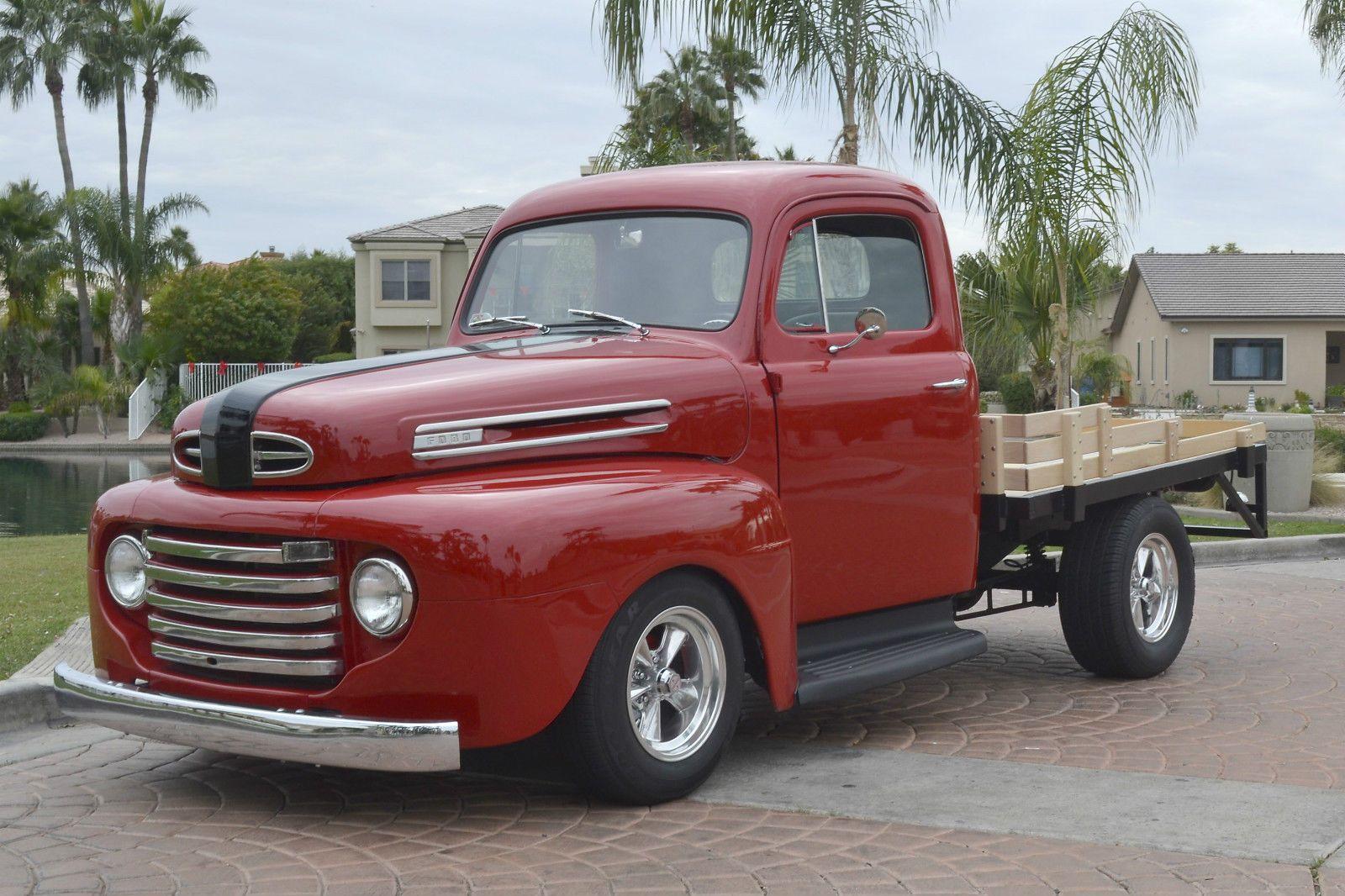 1948 ford f1 stake bed pickup truck custom