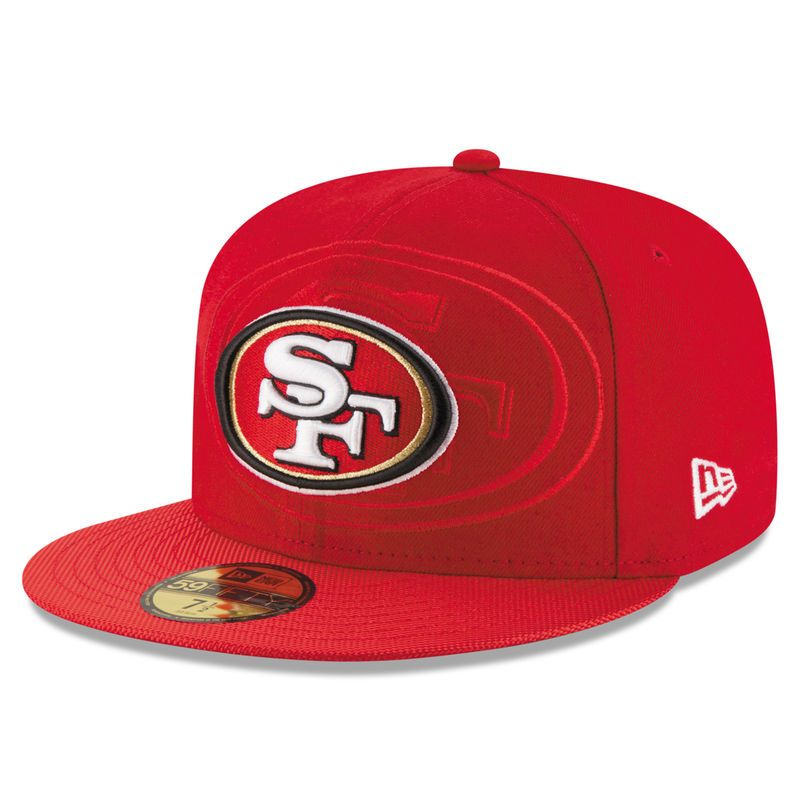 online store 89603 cd3f3 San Francisco 49ers New Era Youth 2016 Sideline Official 59FIFTY Fitted Hat  - Red