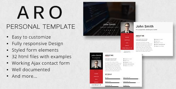 Nice Aro  Responsive Private Portfolio Template Virtual