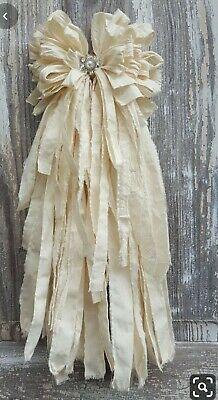 Rag Bow #fashion #home #garden #homedcor #floraldcor (ebay link)