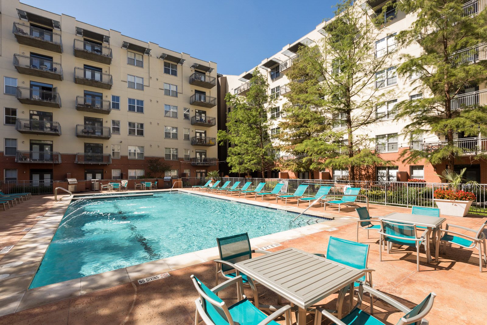 The pool at our downtown Austin apartments has enough