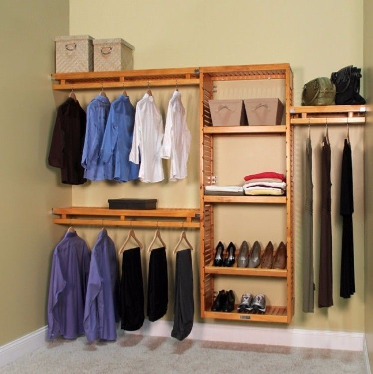 Exceptionnel John Louis Home Collection 12 Inch Deep Simplicity Closet System Honey Maple